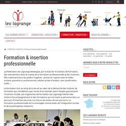 Formation & insertion professionnelle