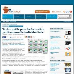 Treize outils pour la formation professionnelle individualisée