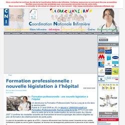 Formation professionnelle infirmière infirmier. DIF droit individuel à la formation FPH