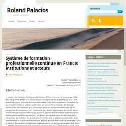 Système de formation professionnelle continue en France: institutions et acteurs