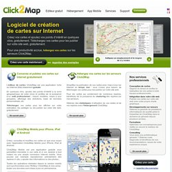 la solution géoweb professionnelle, création de cartes interactives Google Maps