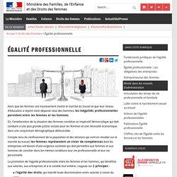 Égalité professionnelle – Ministère des Familles, de l'Enfance et des Droits des femmes