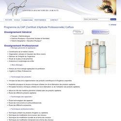 Programme du CAP (Certificat d'Aptitude Professionnelle) Coiffure : Giorgifont ETPEC Ecole d'esthetique, Montpellier