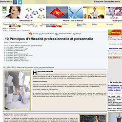 10 Principes d'efficacité professionnelle et personnelle