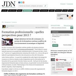 Formation professionnelle : quelles perspectives pour 2015 ? - JDN