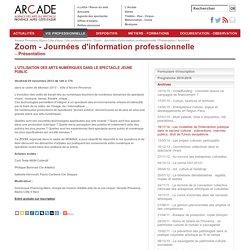 Vie professionnelle > Zoom - Journées d'information professionnelle > Présentation > Archives