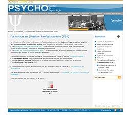 Formation en Situation Professionnelle (FSP)