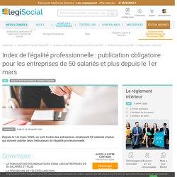 Index de l'égalité professionnelle : publication obligatoire pour les entreprises de 50 salariés et plus depuis le 1er mars LégiSocial