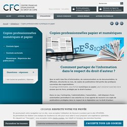 Copie professionnelle - CFC, gestion des droits de reproduction