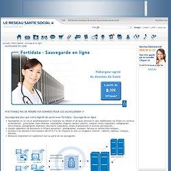 Fortidata Sauvegarde en ligne professionnelle : solution pour sauvegarder et stocker les données sensibles au cabinet médical et au domicile