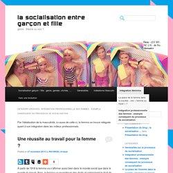 Intégration professionnelle des femmes : exemple conséquent du processus de socialisation