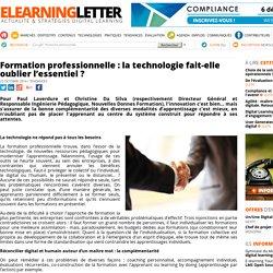 Formation professionnelle : la technologie fait-elle oublier l'essentiel ?