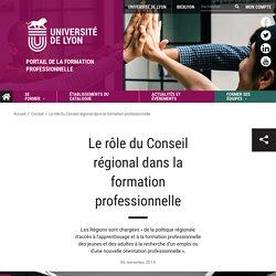 Le rôle du Conseil régional dans la formation professionnelle