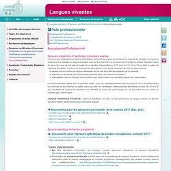 Voie professionnelle - Langues vivantes