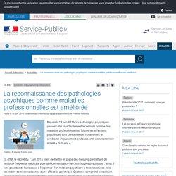 Syndrome d'épuisement professionnel -La reconnaissance des pathologies psychiques comme maladies professionnelles est améliorée