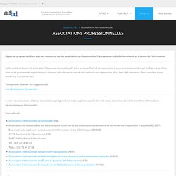 Associations professionnelles – Association internationale francophone des bibliothécaires et documentalistes (AIFBD)