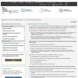 Le Comité Social et Économique - Elections professionnelles (entreprises d'au moins 11 salariés et représentativité syndicale)