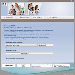 RNCP : Répertoire national des certifications professionnelles - Commission nationale de la certification professionnelle