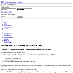 Offres professionnelles - Libfly - Bibliothèques