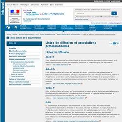 Listes de diffusion et associations professionnelles — Documentation (CDI)