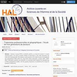 Trajectoires professionnelles et géographiques : l'étude de trois générations de docteurs