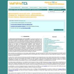 Réflexions sur les ENT : questions éthiques, perspectives pédagogiques, évolutions professionnelles (AC n° 3)