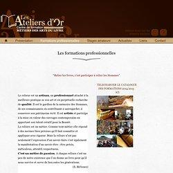 Formations professionnelles qualifiantes (CAP Reliure)