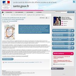 guide accessibilité Locaux des professionnels de santé