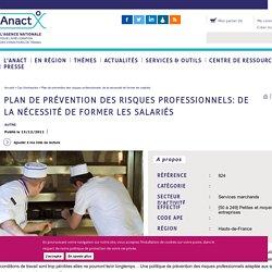 Plan de prévention des risques professionnels: de la nécessité de former les salariés