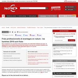 Frais professionnels et avantages en nature : les barèmes 2016 sont fixés NetPME