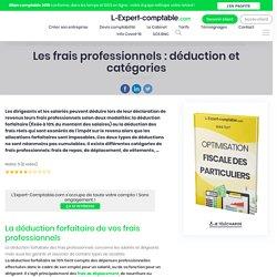 Les frais professionnels : déduction et catégories