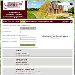 L'annuaire des professionnels de la filière forêt/bois en Champagne-Ardenne