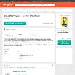 Brevets professionnels Brevet Technique des Métiers Chocolatier Paris Epmtth
