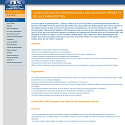 L'Association des professionnels des relations presse et de la communication