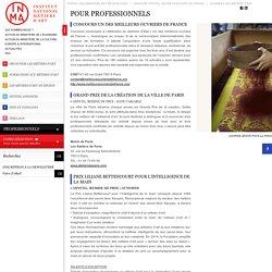 Les prix des métiers d'art pour les professionnels - Concours artisans - INMA (ex SEMA)