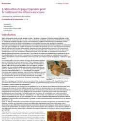 BnF-Professionnels : Conservation - L'utilisation du papier japonais pour le traitement des reliures anciennes, l'exemple du traitement des coiffes
