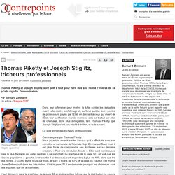 Thomas Piketty et Joseph Stiglitz, tricheurs professionnels
