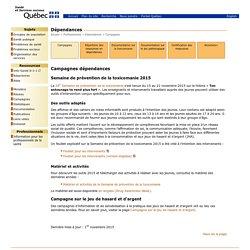 Accueil - Dépendances - Ministère de la Santé et des Services sociaux