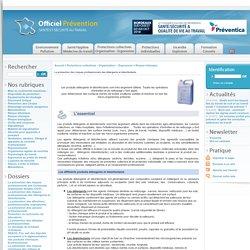 OFFICIEL PREVENTION - JANV 2011 - La prévention des risques professionnels des détergents et désinfectants.