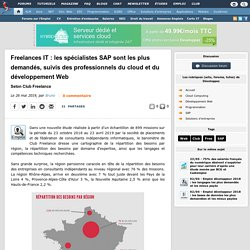 Freelances IT : les spécialistes SAP sont les plus demandés, suivis des professionnels du cloud et du développement Web selon Club Freelance