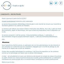 Cepid - Le site d'emploi des professionnels de l'information et de la documentation : documentalistes, archivistes, iconographes, veilleurs, chefs de projet GED - site de recrutement en ligne dans l'Info-Doc.