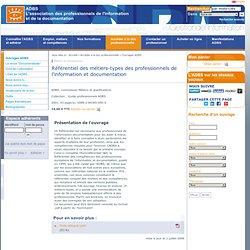 Référentiel des métiers-types des professionnels de l'information et documentation