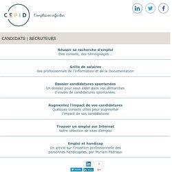 Cepid - Le site d'emploi des professionnels de l'information et de la documentation.