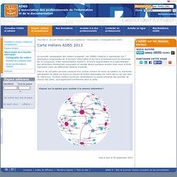 Carte métiers ADBS 2013