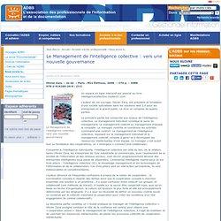 Le Management de l'intelligence collective : vers une nouvelle gouvernance