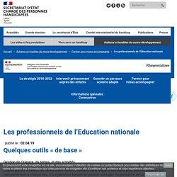 Page site secrétariat d'Etat auprès du 1er ministre chargé des personnes handicapés pour pro EN - Bcp d'outils et de liens à creuser