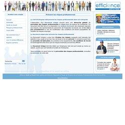Prévenir risques professionnels - Efficience Santé au Travail : prévenir les risques professionnels votre service de santé au travail vous informe