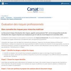 Évaluation des risques professionnels - Entreprises - CARSAT Aquitaine