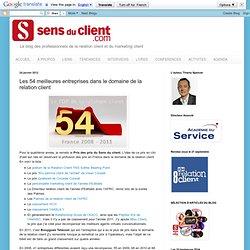 Relation client : les 54 meilleures entreprises