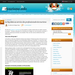 Gp2 : Le big data au service des professionnels du tourisme